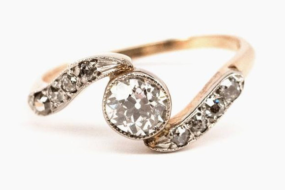 Victorian Bypass Diamond Ring