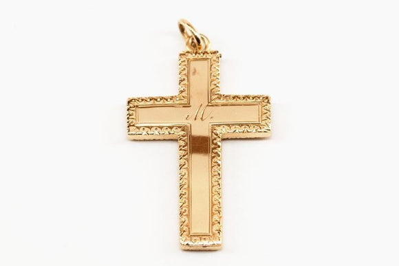 Engraved Cross Locket