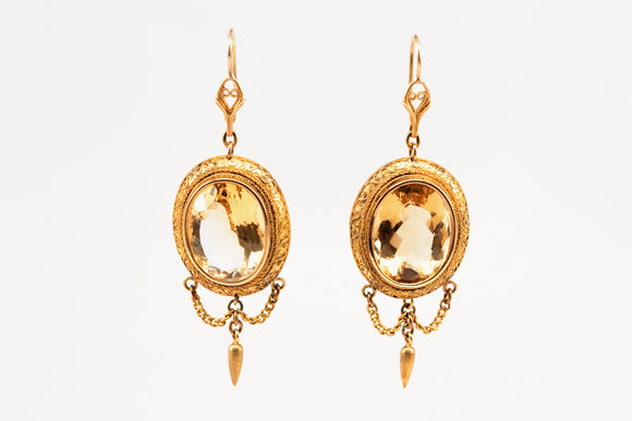 Magnificent Citrine Chandelier Earrings