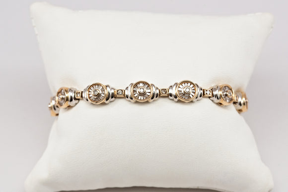 Modern Two Tone Diamond Bracelet