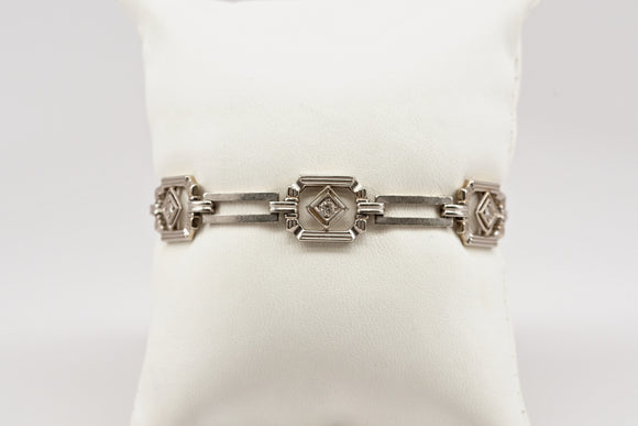 SOLD 7 Inch Art Deco Diamond Bracelet