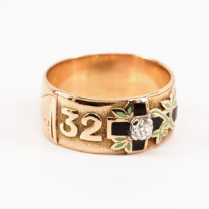 SOLD 32nd Degree Scottish Rite Masonic Ring