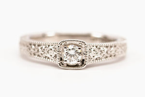 Art Deco Inspired Diamond Solitaire