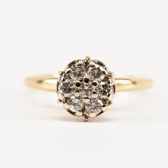 SOLD High Set Diamond Cluster Ring