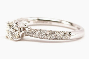 .51ct Diamond Engagement Ring with Micro Pave Side Stones