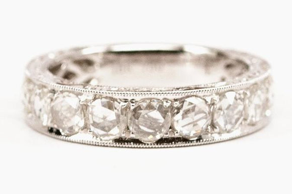 1.16tw Rose Cut Diamond Band
