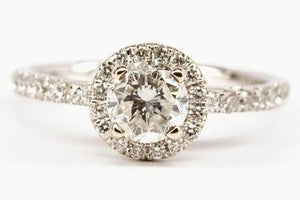 .96ct Diamond Halo Engagement Ring