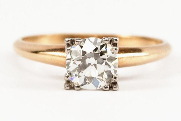 SOLD 1.27ct Old European Cut Engagement Ring with Illusion Style Head
