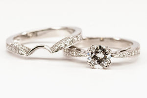 .91ct Tapered Shank Diamond Engagement Ring with Matching Band