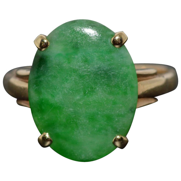 SOLD Green Jade Ring