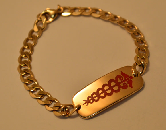 Yellow Gold Medical Bracelet