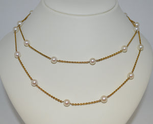 Station Pearl Necklace