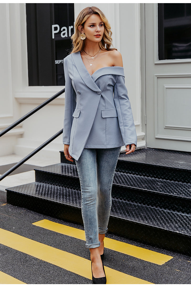 One Shoulder Blazer