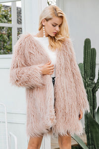 I Won't Waste One More Minute Faux Fur Coat