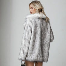 Load image into Gallery viewer, Cold Winter Faux Fur Coat