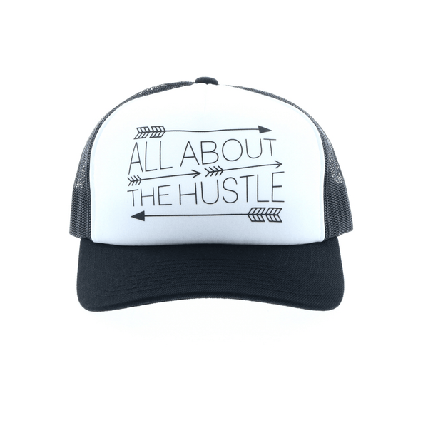 """Hustle"" White/Black"