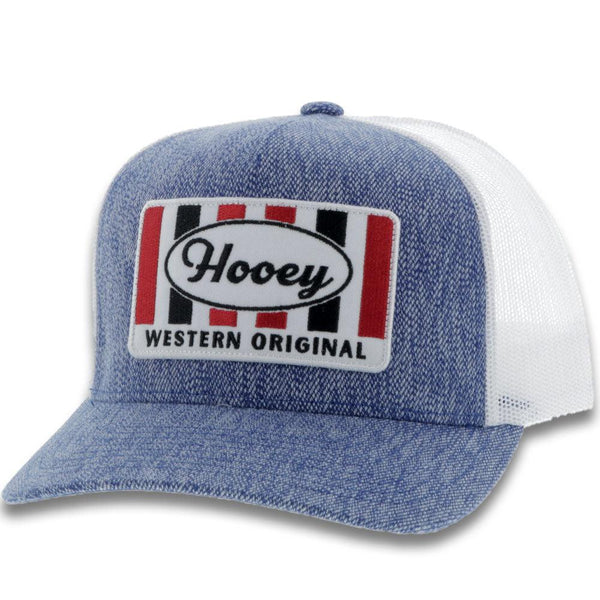 """Hooey"" Denim/White"