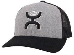 """Sterling"" Grey/Black Hat"