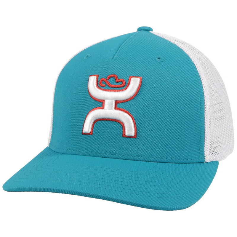 """Coach"" Teal/White Hat"