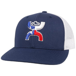 """Texican"" Navy/White Hat"