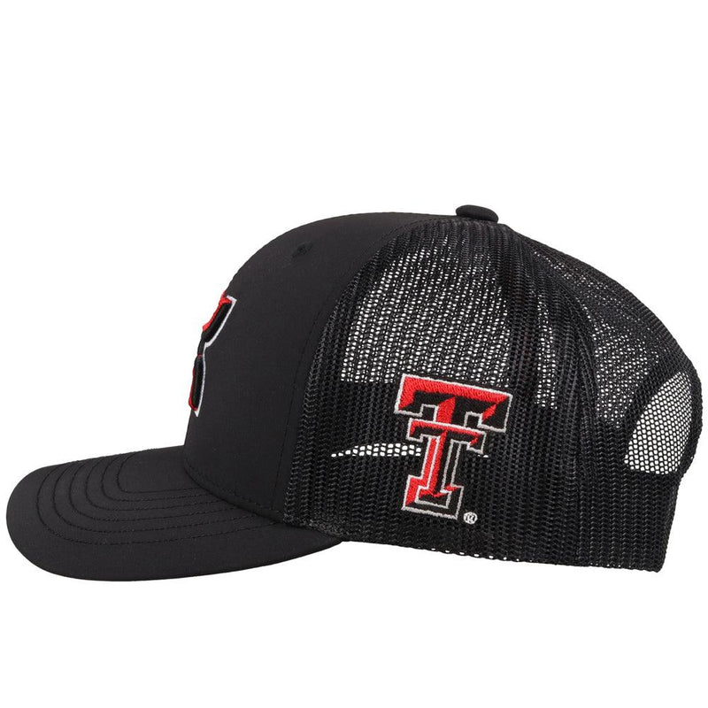 Youth Black Texas Tech Hat w/ Hooey Logo