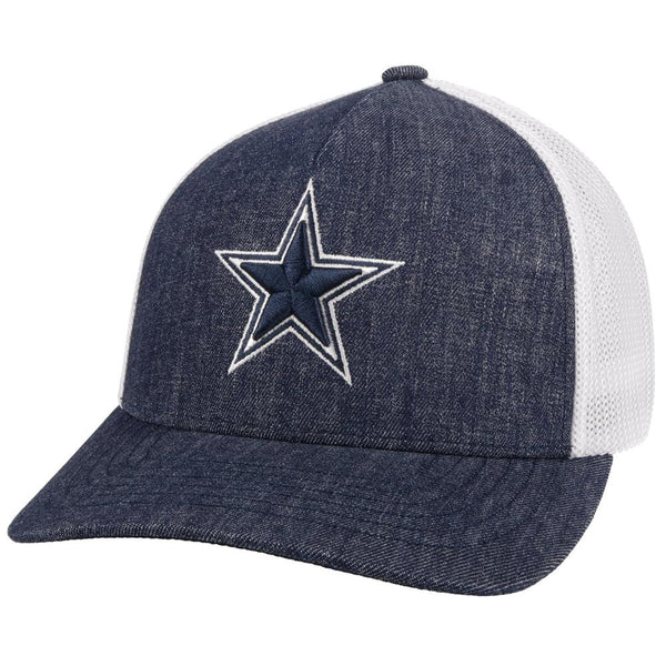 Fitted Dallas Cowboys Hat (Denim/White)