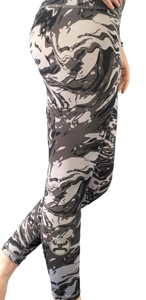 Hooey Yoga Pants Full Length/Grey Galaxy