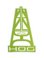Small Lime Green HOG Sticker