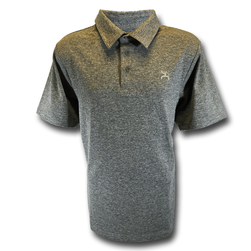Hooey, heather grey short sleeve golf shirt