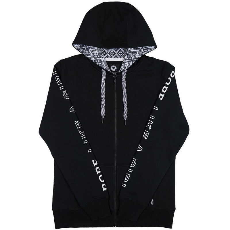 Rope Like a Girl Black Full Zip Hoodie