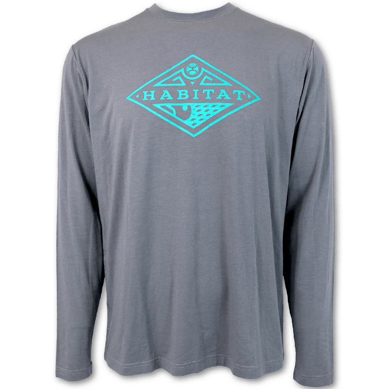 """Graphite"" Bamboo Grey/Turquoise"