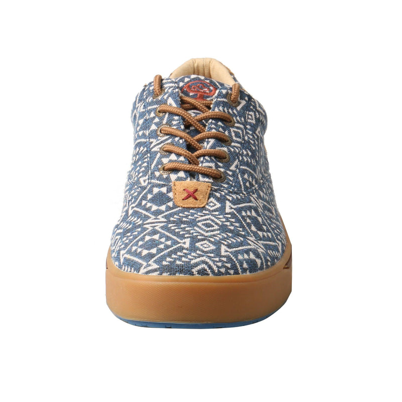 """Men's Hooey Loper"" Navy/White Print"