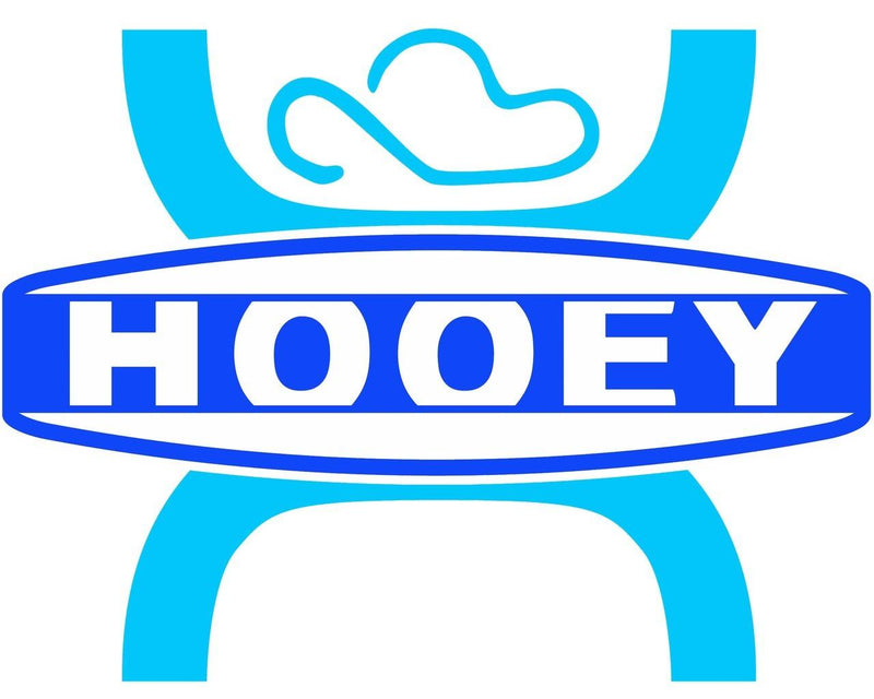 Large Hooey Light Blue and Dark Blue Sticker