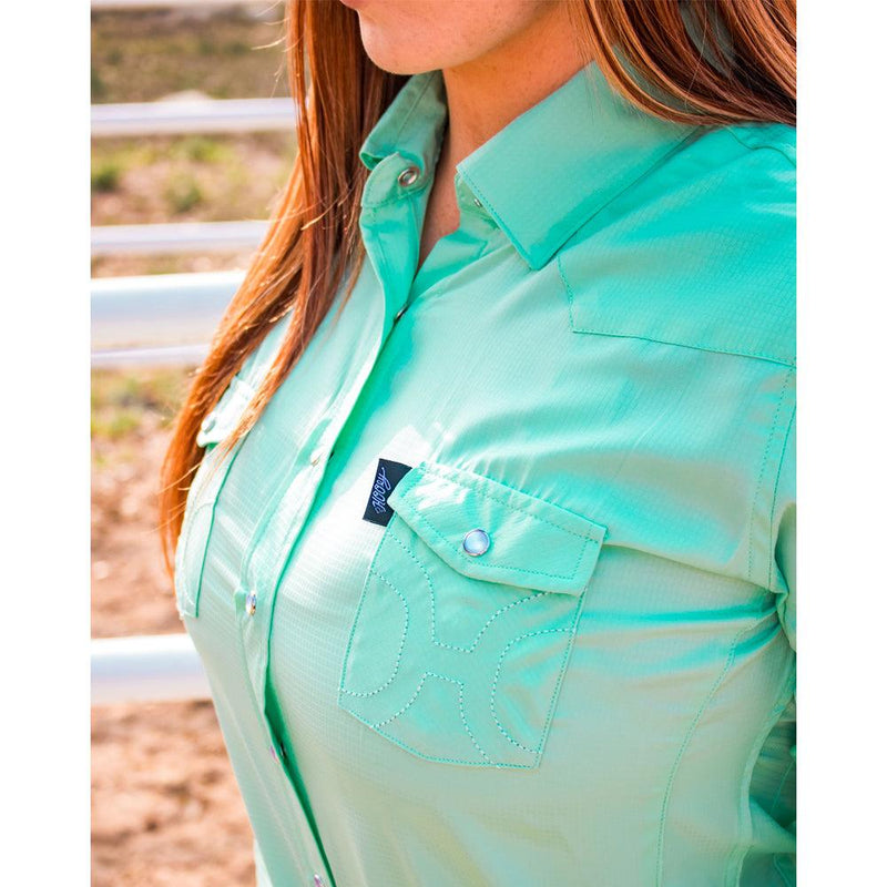 """Sol"" Ladies Sea Foam Long Sleeve"