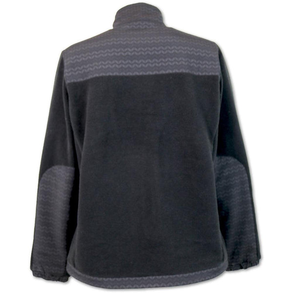 Fleece Jacket - Black/Aztec