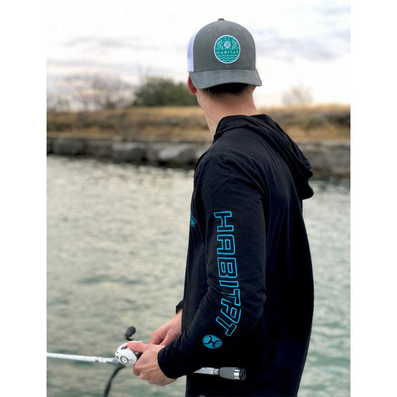 """Captain"" Bamboo Black/Turquoise w/ Hood"
