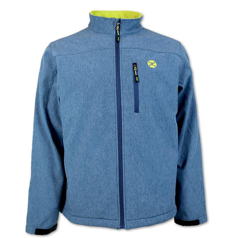 BOYS Softshell Jacket - Navy/Green