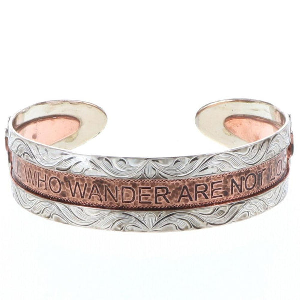 """All Who Wander Are Not Lost"" w/ cactus Cuff"