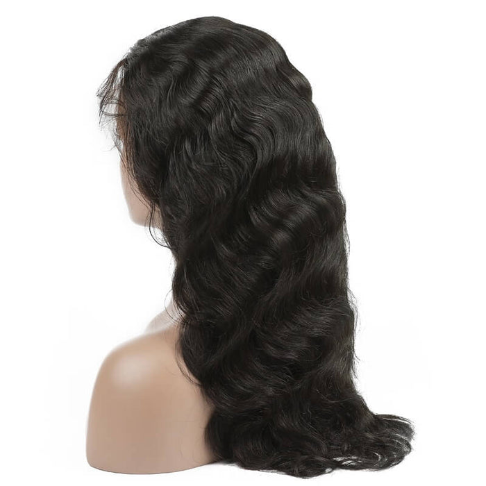 Virgin Indian Body Wave Lace Front Wig 150% Density