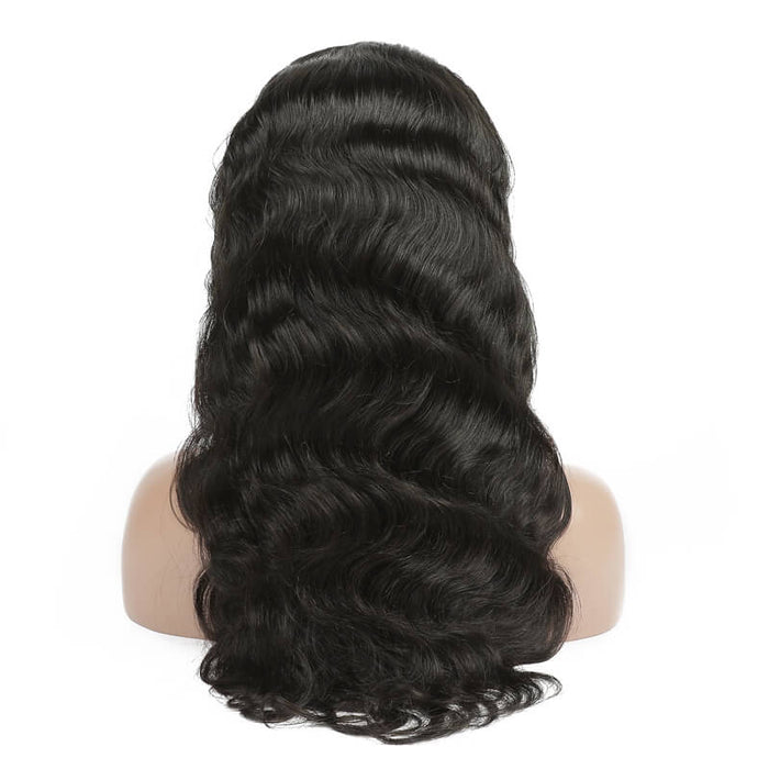 Virgin Indian Body Wave Lace Front Wig 130% Density