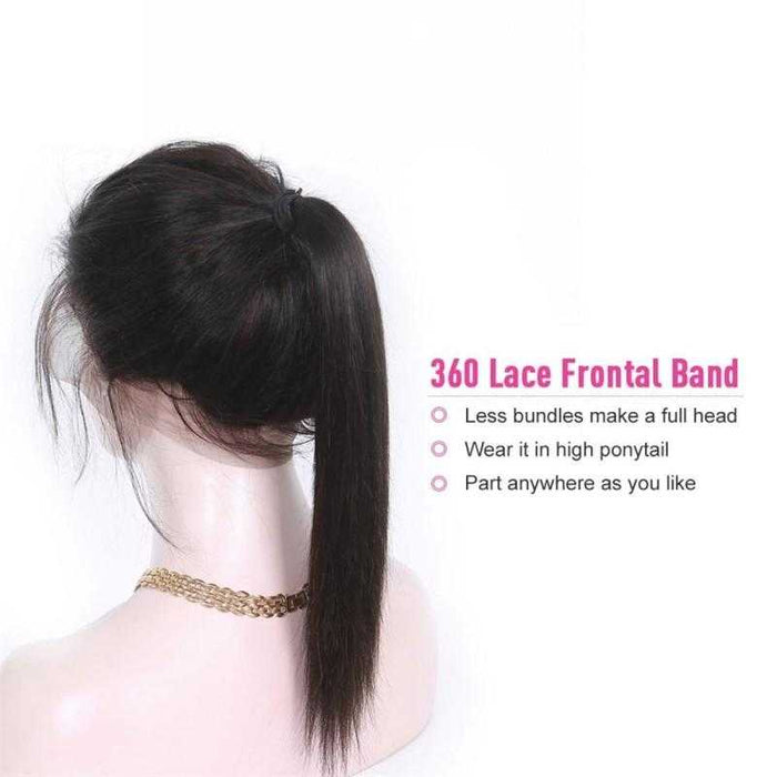 Virgin Indian Hair Straight 360 Frontal - Beautiful Inches