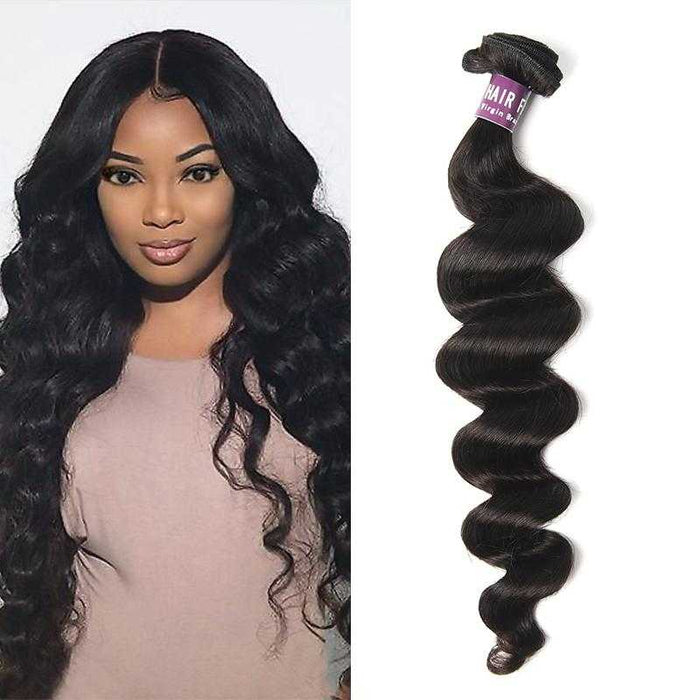 Malaysian Loose Curly Hair Bundle Natural Color - Beautiful Inches