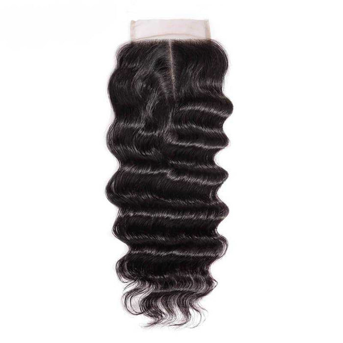 Malaysian Loose Curly Lace Closure Natural Color - Beautiful Inches