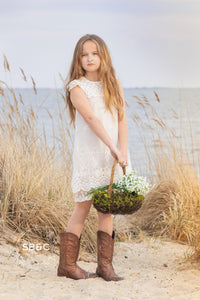 Claire Flower Girl Dress in Ivory