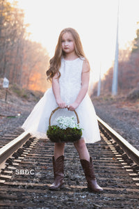 Madison Flower Girl Dress in White