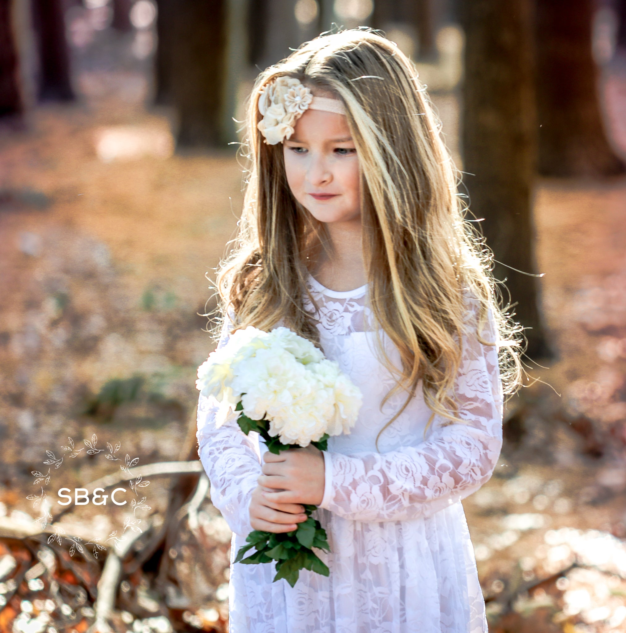 92510f94b ... Load image into Gallery viewer, Flower Girl Dresses-Rustic Flower Girl  Dresses-White ...