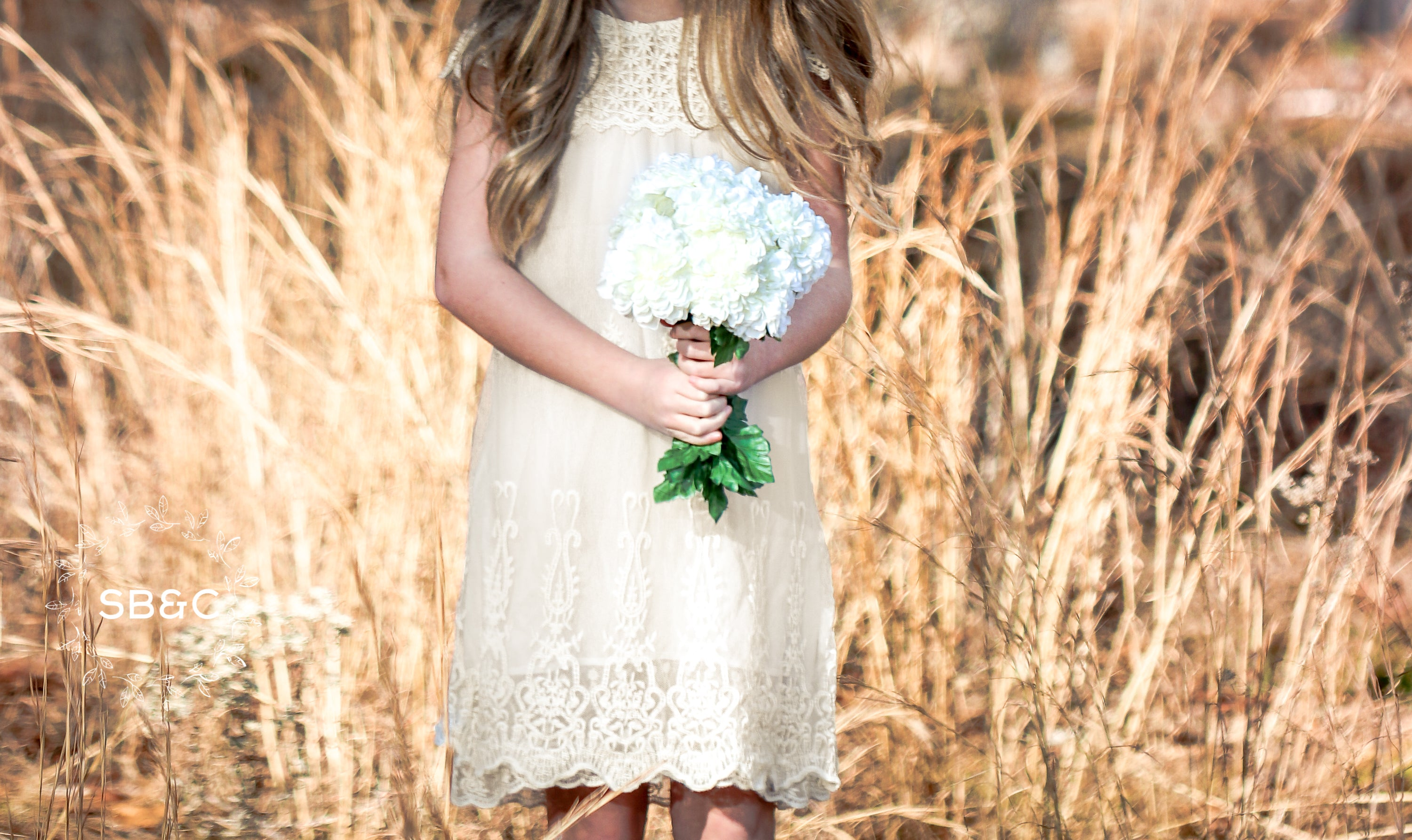 af291a4b3ca4 Claire Flower Girl Dress in Ivory-Vintage-Boho-Lace-Rustic-Communion ...