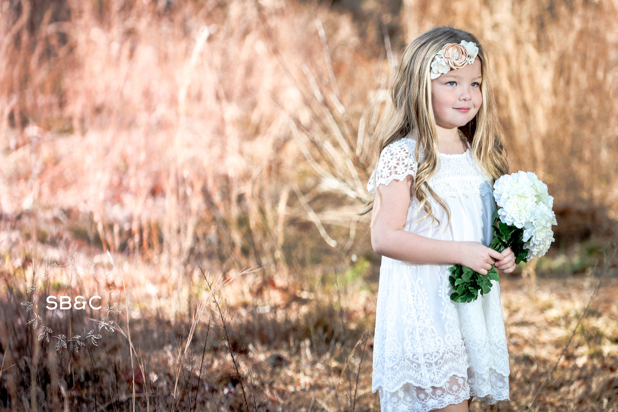 8b953d74f01 Claire Flower Girl Dress in White-Vintage-Boho-Lace-Rustic-Communion ...