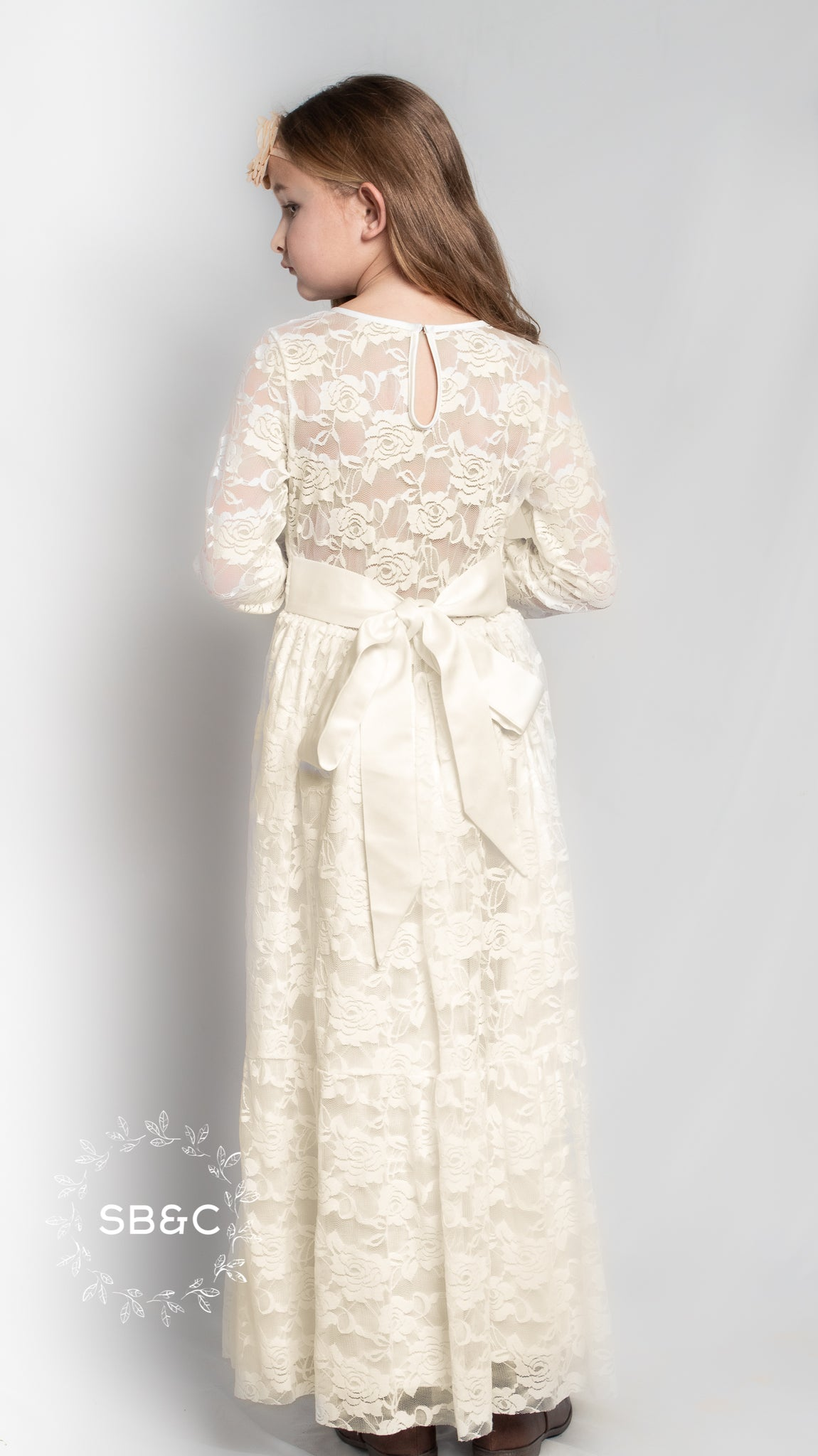 0358f4a1e ... Dresses-Ivory; Load image into Gallery viewer, Flower Girl Dresses-Rustic  Flower Girl Dresses-White ...