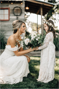 Bella Flower Girl Dress in White